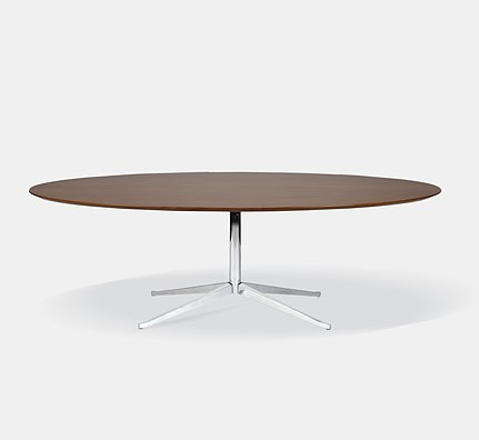 knoll florence table desk tisch oval. Black Bedroom Furniture Sets. Home Design Ideas