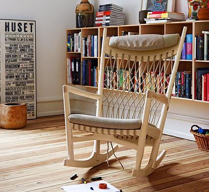 wegner pp124 schaukel stuhl pp moebler. Black Bedroom Furniture Sets. Home Design Ideas