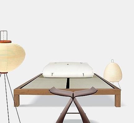 futon tatami pfostenbett jap. Black Bedroom Furniture Sets. Home Design Ideas