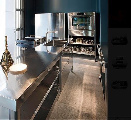 Edelstahl-Modul-Küche