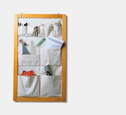 Wand-Stau-Tasche, textil